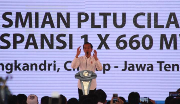 Resmikan PLTU di Cilacap, Jokowi Klaim Aliran Setrum Sudah Merata ke Desa Terpencil - Warta Ekonomi