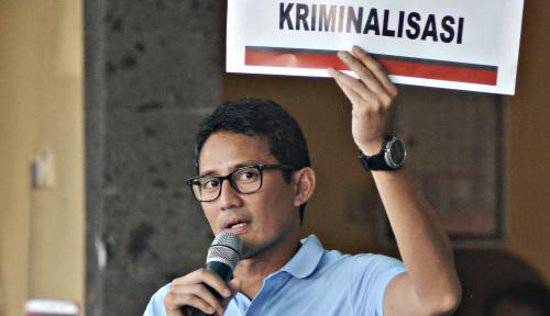 Foto Sandiaga Selalu Serang Pemerintahan Jokowi, TKN Kesel?