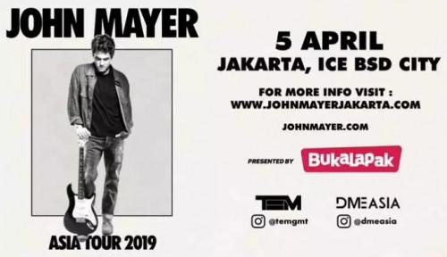 Bukalapak Banting Harga Tiket John Mayer Rp12 Ribu