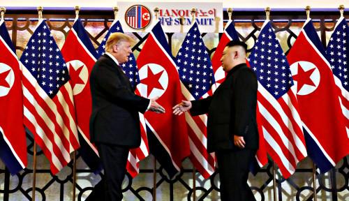 Foto Beri Pujian, Korsel Puji Ucapan Ulang Tahun Trump pada Kim Jong-un