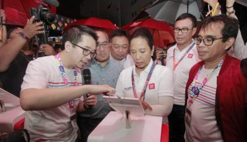 Foto Menteri Rini Targetkan LinkAja Kalahkan Alipay