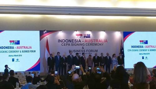 Foto Setelah 9 Tahun Runding, Indonesia-Australia Resmi Teken IA-CEPA