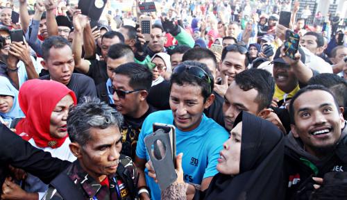 Foto Sandi Sebut Rezim Jokowi Buka Pintu untuk Tenaga Kerja Asing