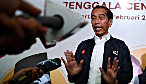 Foto Ditanya Soal Deklarasi Kemenangan, Jokowi: Sabar, Semuanya Sabar!