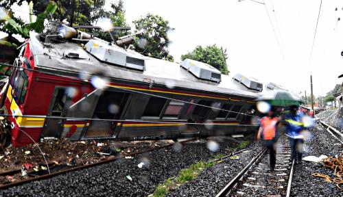 Foto Alhamdulilah, Dua Jalur Kereta KRL Sudah Kembali Normal