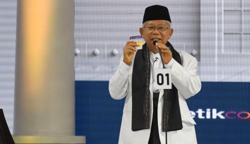 Foto Debat Kelima, Ma'ruf Amin Bakal Bikin Kejutan?