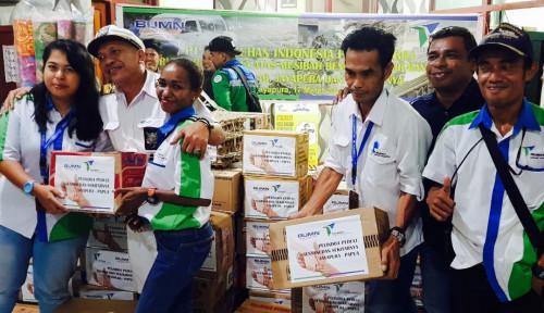 Tim Relawan Pelindo IV Bantu Korban Banjir Bandang Sentani