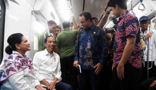 Foto Soal Tarif MRT, Anies Minta Masyarakat Sabar