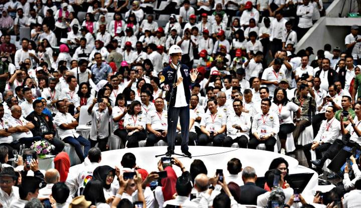 Jokowi Sapa Ribuan Pendukungnya
