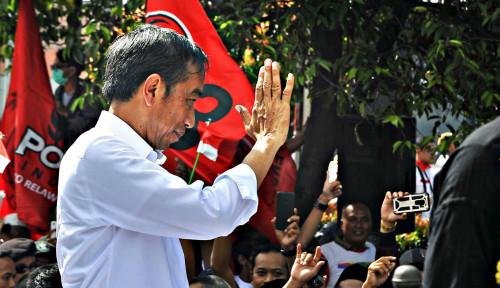 Foto Jokowi Tidak Mau Imbang, Harus Menang