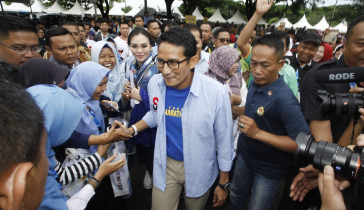 Kampanye di Kaltim, Sandiaga Uno Janjikan OK-Oce - Warta Ekonomi