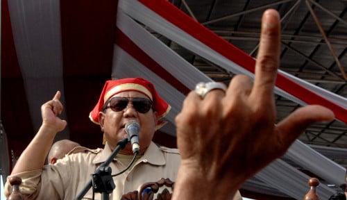Foto Prabowo Merasa Sedang Berjuang Seperti Bung Tomo Bukan Bung Karno