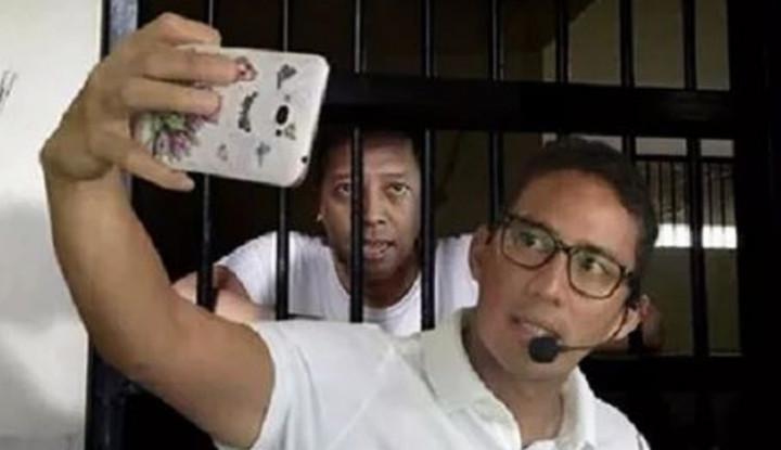 Heboh! Sandiaga Foto 'Bareng' Rommy di Penjara, Benarkah? - Warta Ekonomi