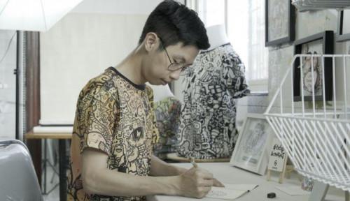 Foto IPK Hampir 4, Pemuda Ini Lebih Milih Jualan Doodle Art