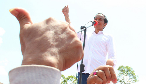 Foto Kampanye Jokowi di Sukabumi Ternyata Dadakan, Kenapa ya?