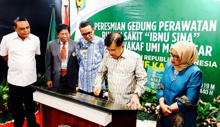 Wapres JK Resmikan Gedung Perawatan RS Ibnu Sina - Warta Ekonomi