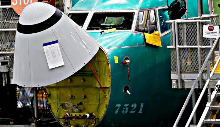 Foto Kecelakaan 737 Max, Gaji dan Saham CEO Boeing Dipotong Hingga 2020