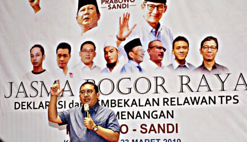 Foto BPN Tolak Situng KPU, Fadli Zon Kena Pukulan Telak