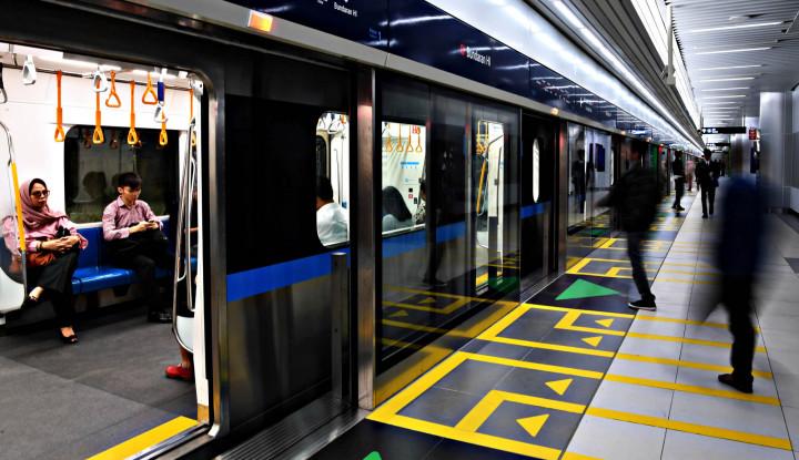 Jumlah Penumpang MRT Turun Drastis di Libur Lebaran - Warta Ekonomi