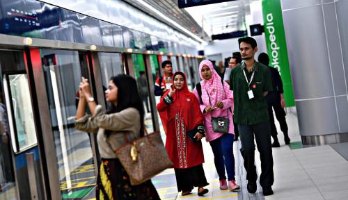 Foto MRT Dorong Okupansi Sektor Ritel Naik 88%