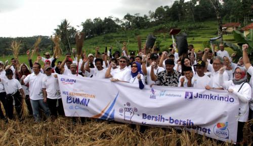 Foto Gandeng Dua BUMN, Jamkrindo Pimpin Kegiatan Padat Karya di Ciamis