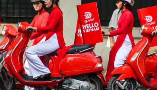 Foto Go-Food Resmi Lepas Landas ke Vietnam