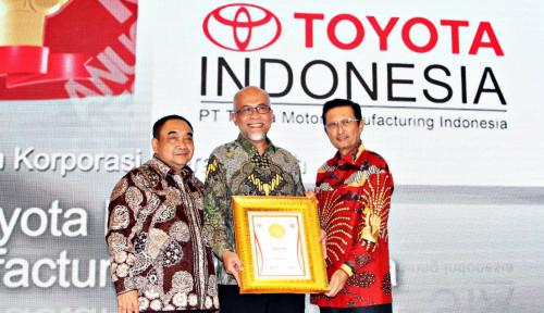 Foto Pacu Ekspor, Toyota Indonesia Diganjar Korporasi Merah Putih