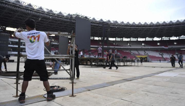 Pendukung Jokowi-Ma'ruf Sudah Ramai di GBK, Ada yang dari Subuh - Warta Ekonomi