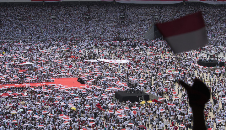 Seruan Pendukung 01 di GBK: Jokowi wae, Jokowi wae - Warta Ekonomi