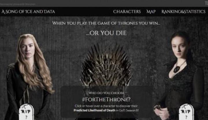 Game of Thrones Musim 8 Tayang! Aplikasi Ini Prediksi Tokoh yang Akan Mati - Warta Ekonomi