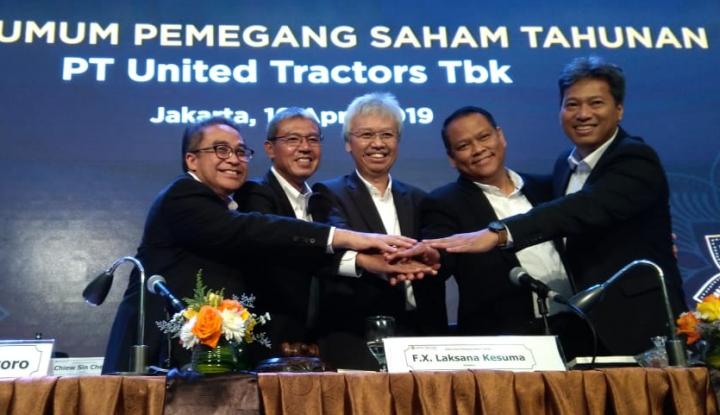Tebar Dividen Rp4,5 T, United Tractors Pun Rombak Komisaris dan Direksi - Warta Ekonomi