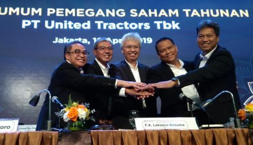Foto Tebar Dividen Rp4,5 T, United Tractors Pun Rombak Komisaris dan Direksi