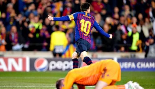 Foto Barcelona vs MU 3-0: Messi Kejam Sekali, Bikin De Gea Mirip Kiper Amatiran