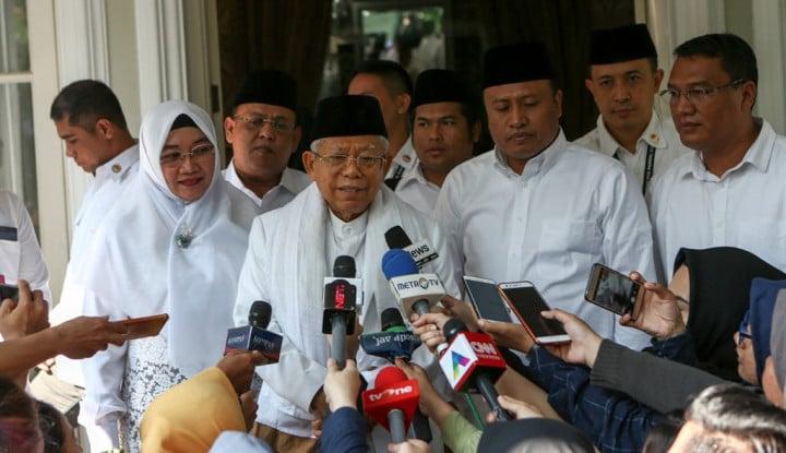 Belum Berencana Bertemu, Ma'ruf Masih Tunggu Telepon Jokowi - Warta Ekonomi