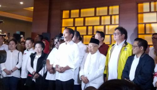 Foto Jokowi Sudah Bilang 01 Unggul versi Quick Count