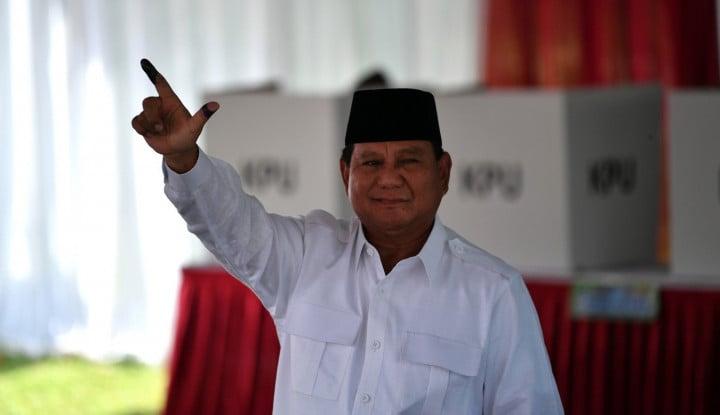 Prabowo Klaim Menang Versi Exit Poll dan Quick Count - Warta Ekonomi