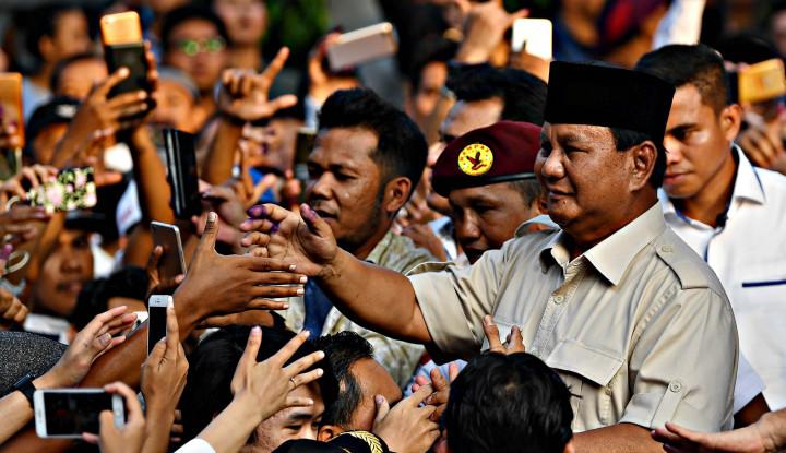 Dua Kali Prabowo Memohon Pendukungnya Pulang Istirahat - Warta Ekonomi