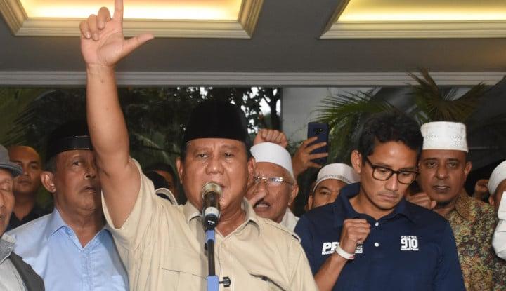 Prabowo-Sandi Tak Akan Hadir di MK, Nobar Sidang di Kertanegara - Warta Ekonomi