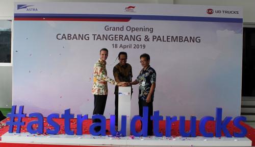 ASII Astra UD Trucks Resmi Ekspansi ke Tangerang dan Palembang