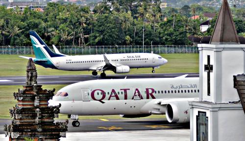 Foto Meski Pandemi Corona, Qatar Airways Tetap Terbang ke Seluruh Dunia
