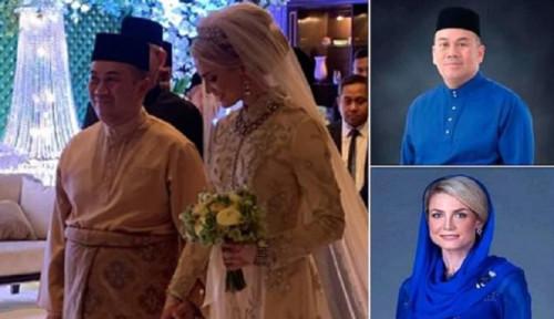 Foto Putra Mahkota Malaysia Nikahi Wanita Cantik Asal Swedia