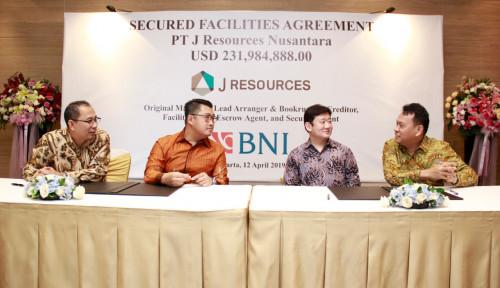 BBNI PSAB Raih US$231,9 Juta dari BNI, J Resources Danai Proyek Tambang