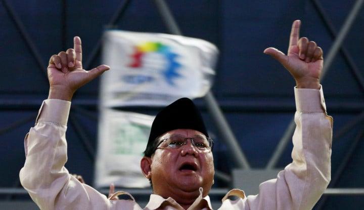 Prabowo Tolak Hasil Pemilu,