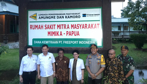 Foto Jonan Resmikan Proyek Pengembangan Masyarakat PT Freeport dan LPMAK