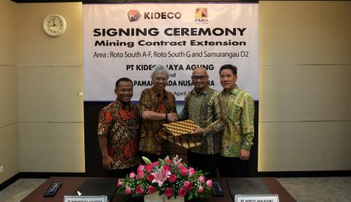 Foto Kideco-PAMA Perpanjang Kontrak Jasa Penambangan Hingga 2023