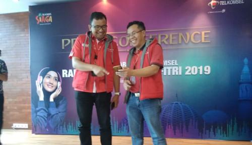 Foto Sambut Idul Fitri, Telkomsel Sumatera Bangun 102 BTS