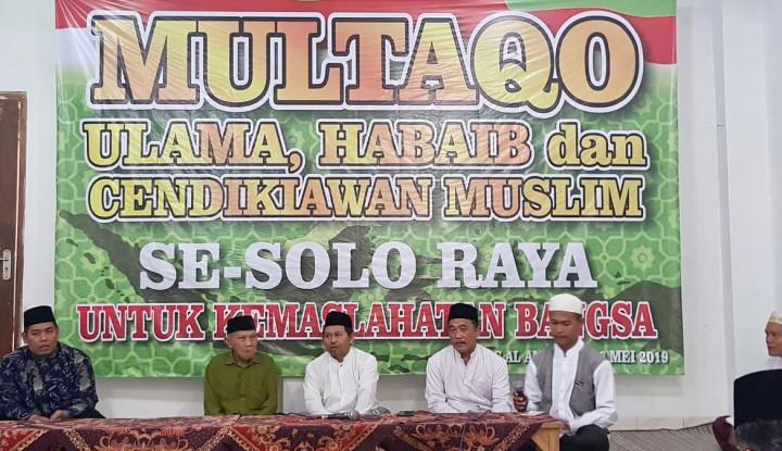 Multaqo Ulama Solo: Menolak Perhitungan KPU adalah Pemberontakan - Warta Ekonomi