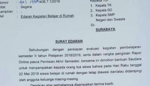 Foto Tanggal 22 Mei Sekolah di Surabaya Libur, Gara-Gara...