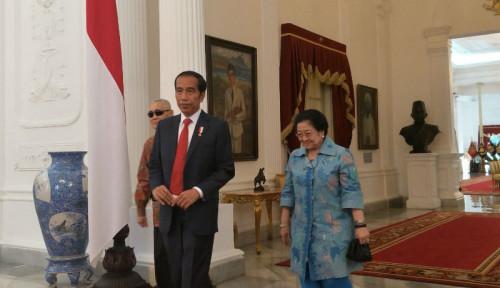 Foto Jokowi Menang, Megawati Senang
