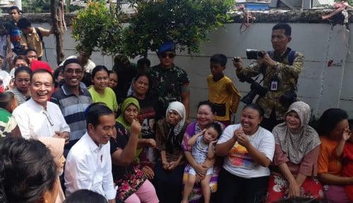 Foto Alasan Jokowi Deklarasikan Kemenangan di Kampung Deret, Hingga Bawa Nama Anies
